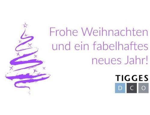 Das Team der TIGGES DCO wünscht Frohe Weihnachten & ein fabelhaftes neues Jahr
